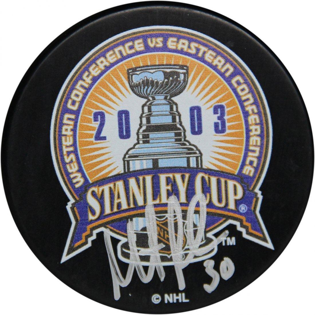 Martin Brodeur 2003 Stanley Cup Puck