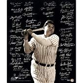 Baseball Greats Multi Signed/Inscribed Vertical 20x24 P