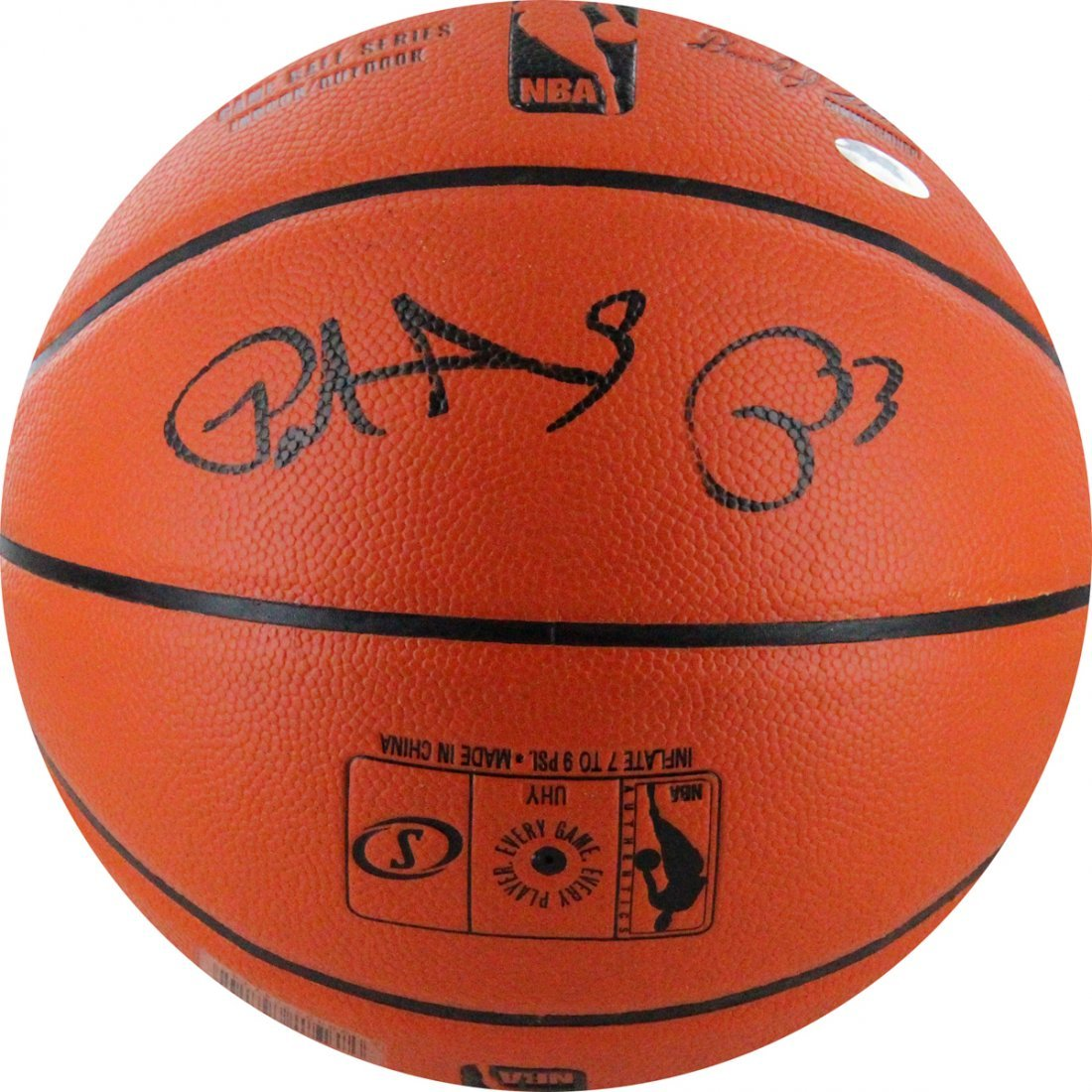 Patrick Ewing Signed Game Series I/O Basketball