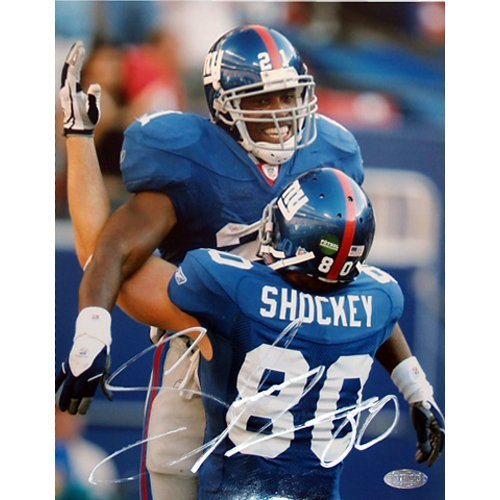 Jeremy Shockey Picking up Tiki 8x10