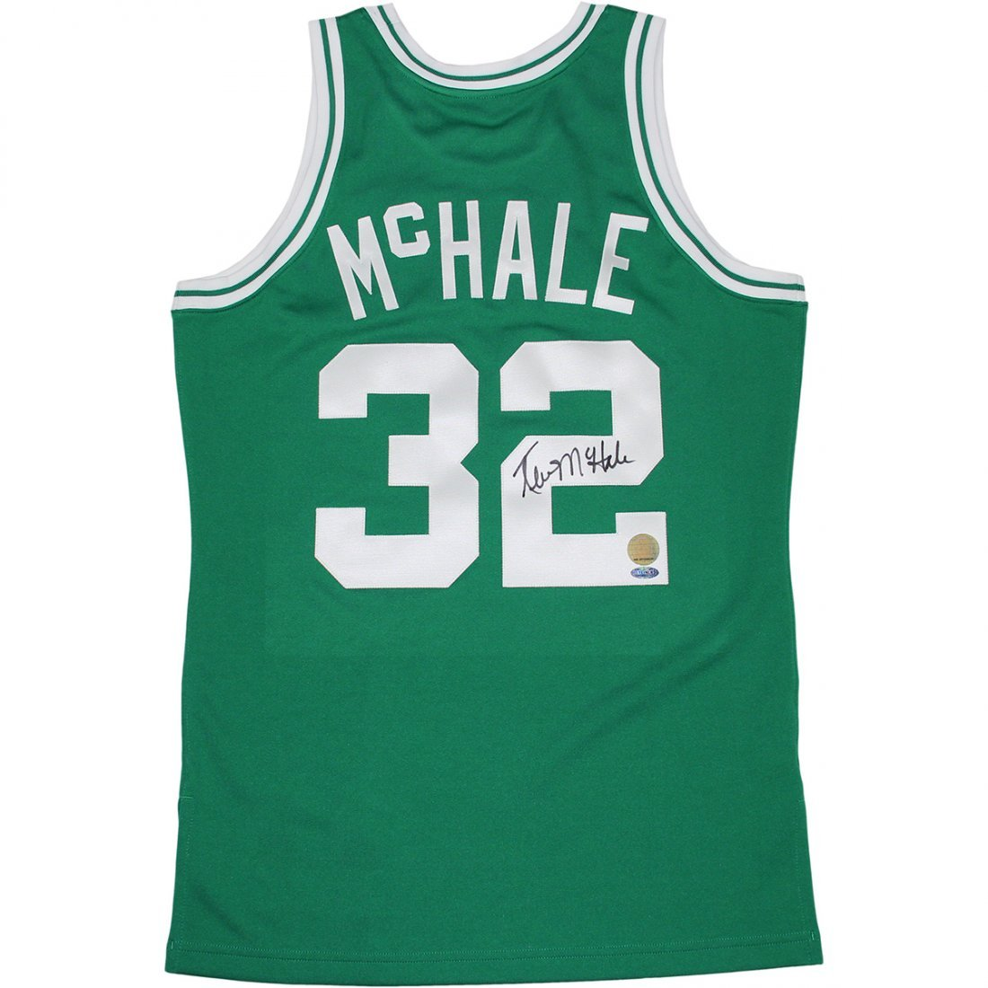 Kevin McHale Signed Mitchell and Ness Green Jersey