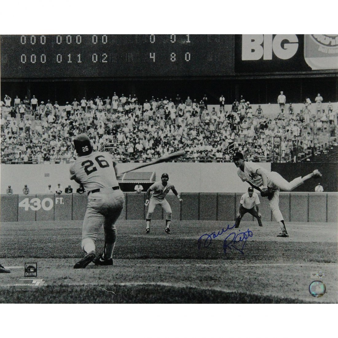 Dave Righetti No Hitter Scoreboard 16x20 Photo (MLB Aut