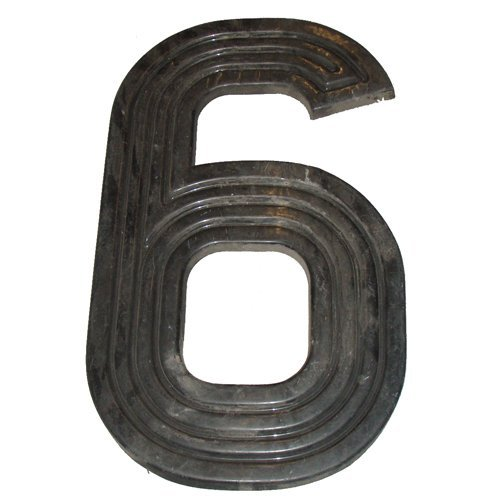 "Number ""6"" from the Outside Marquee Announcement Board"
