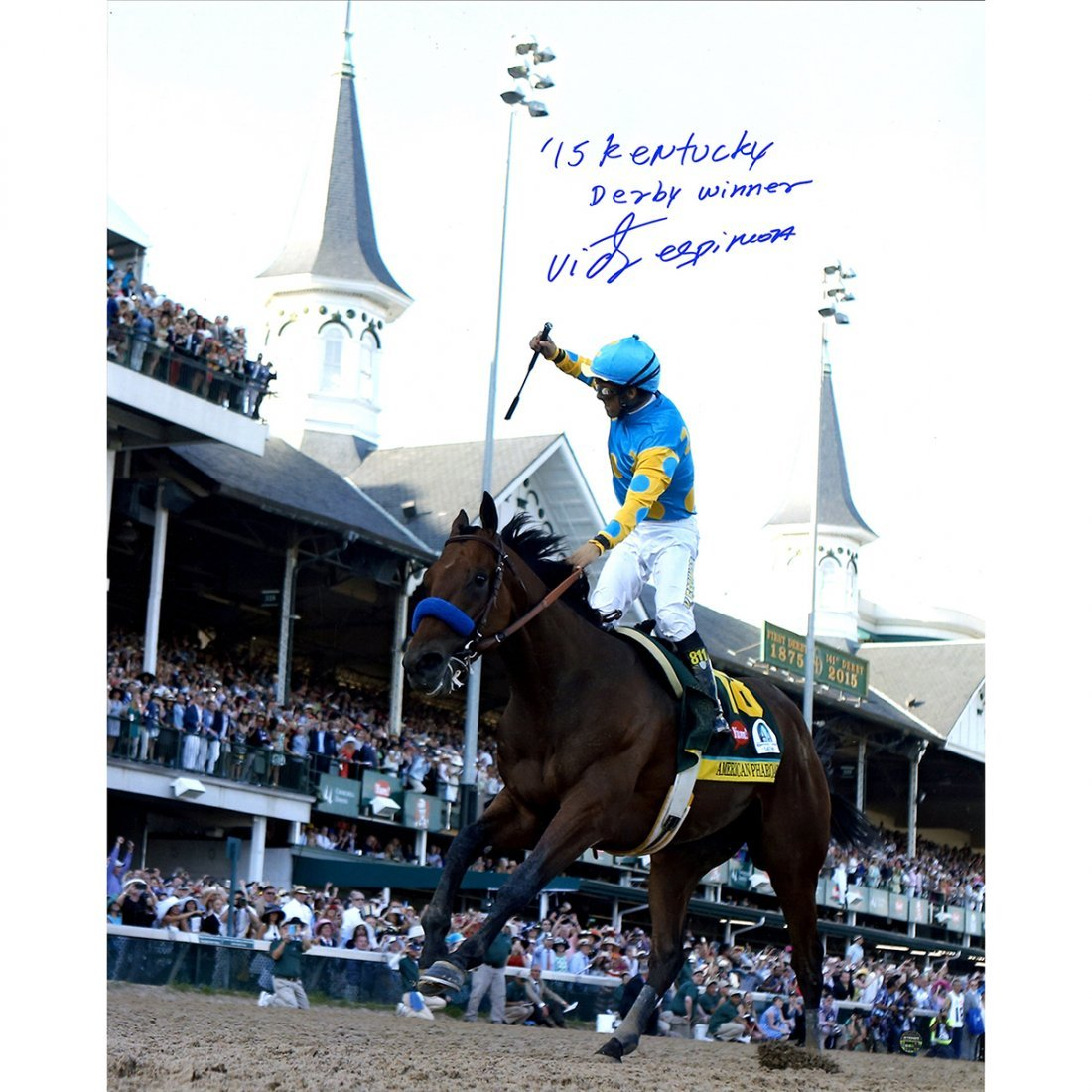 Victor Espinoza Signed 2015 Kentucky Derby 16x20 Photo