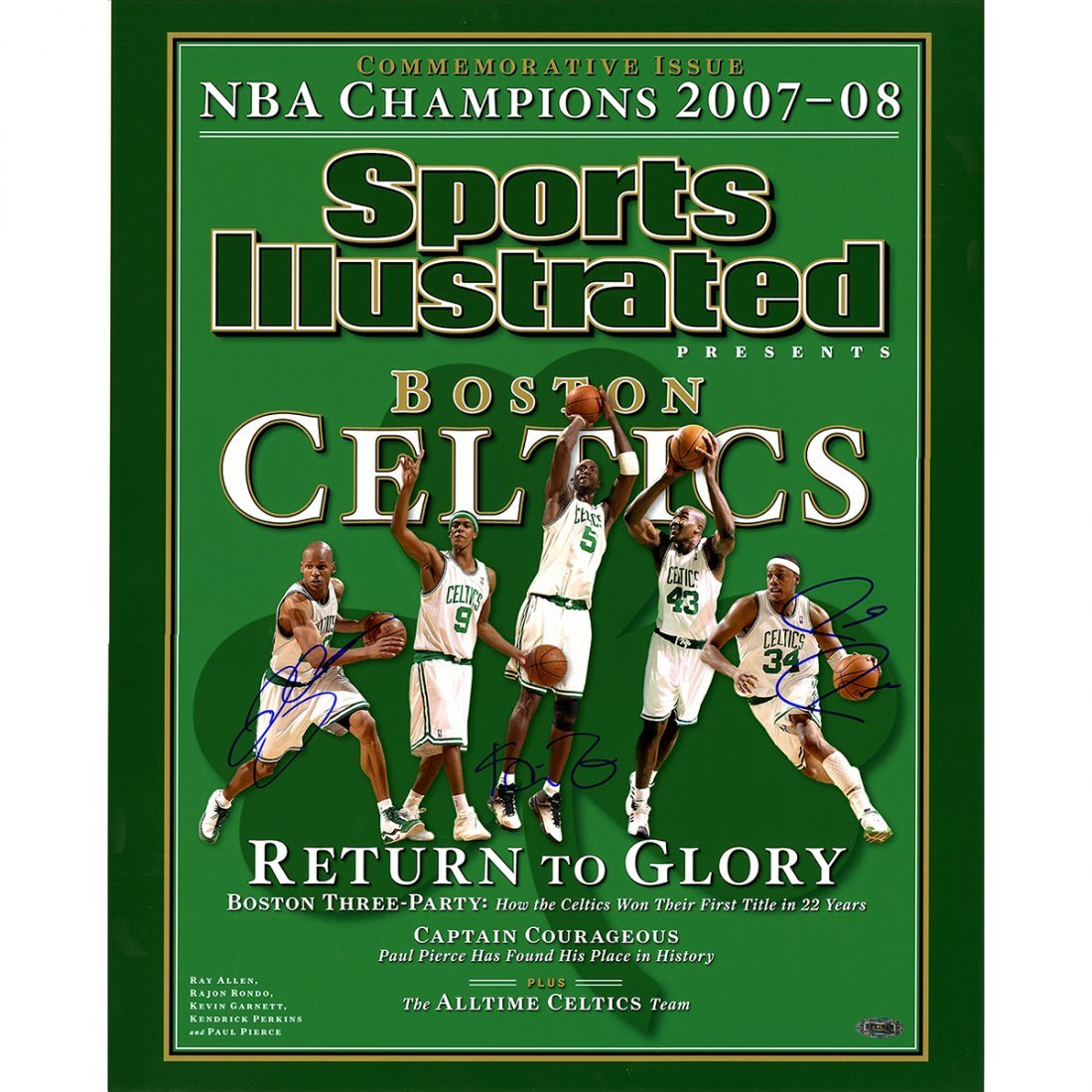 Ray Allen/Paul Pierce/Kevin Garnett Triple Signed Sport