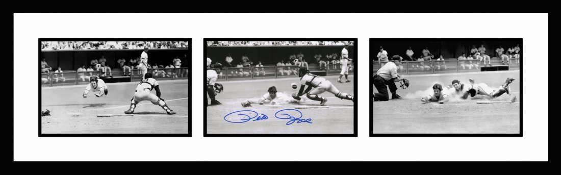 Pete Rose Greatest Dive Series Signed Framed