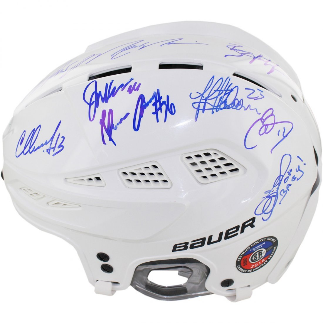 1994 New York Rangers Team Signed Helmet (LE of 24) (16