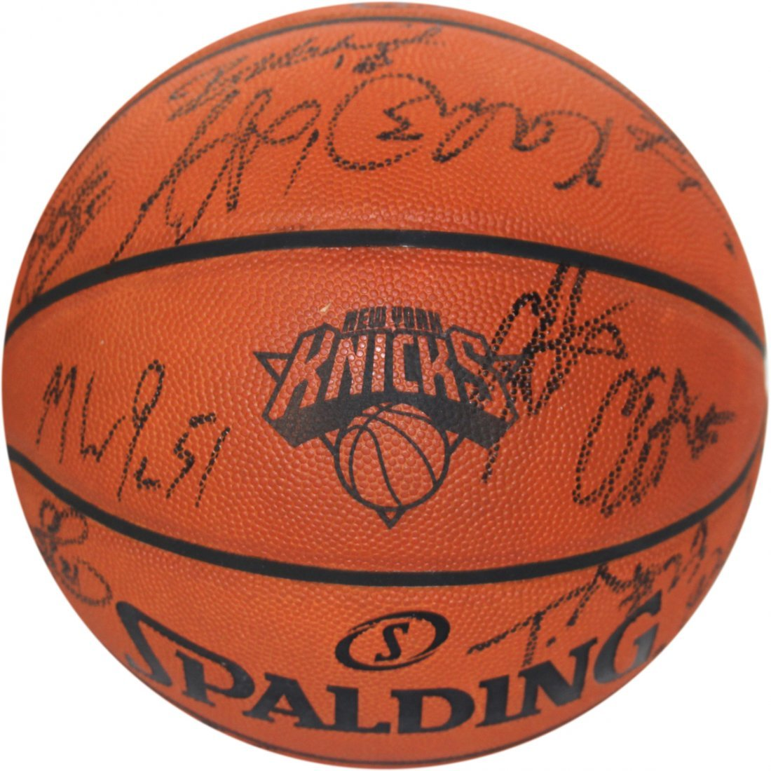 New York Knicks 2013-2014 Team Signed Knicks Engraved L