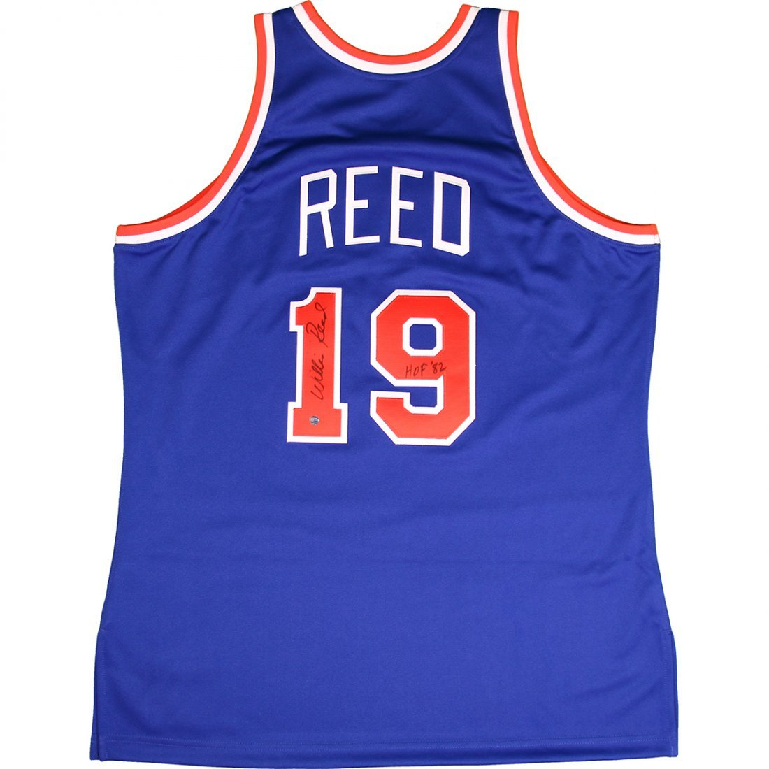 Willis Reed Signed 1972-73 New York Knicks Blue Authent