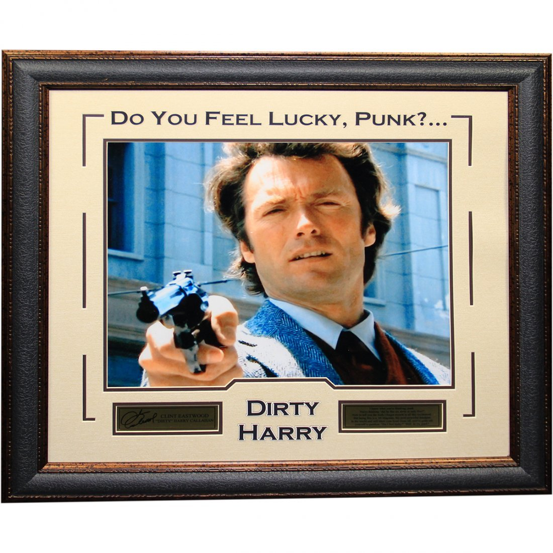 Clint Eastwood Dirty Harry Framed Photo