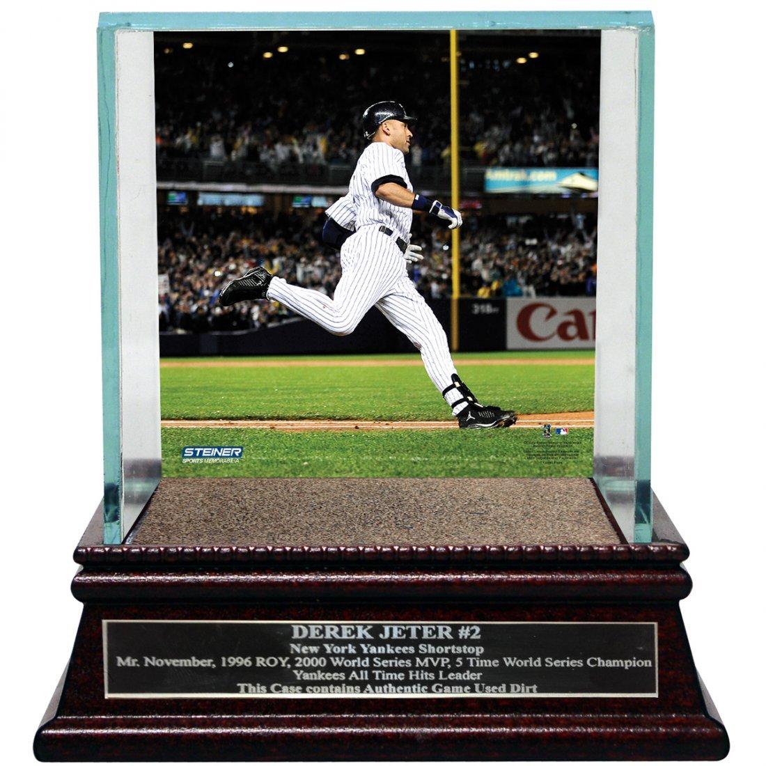 Derek Jeter Moments: Passing Gehrig Background Glass Si
