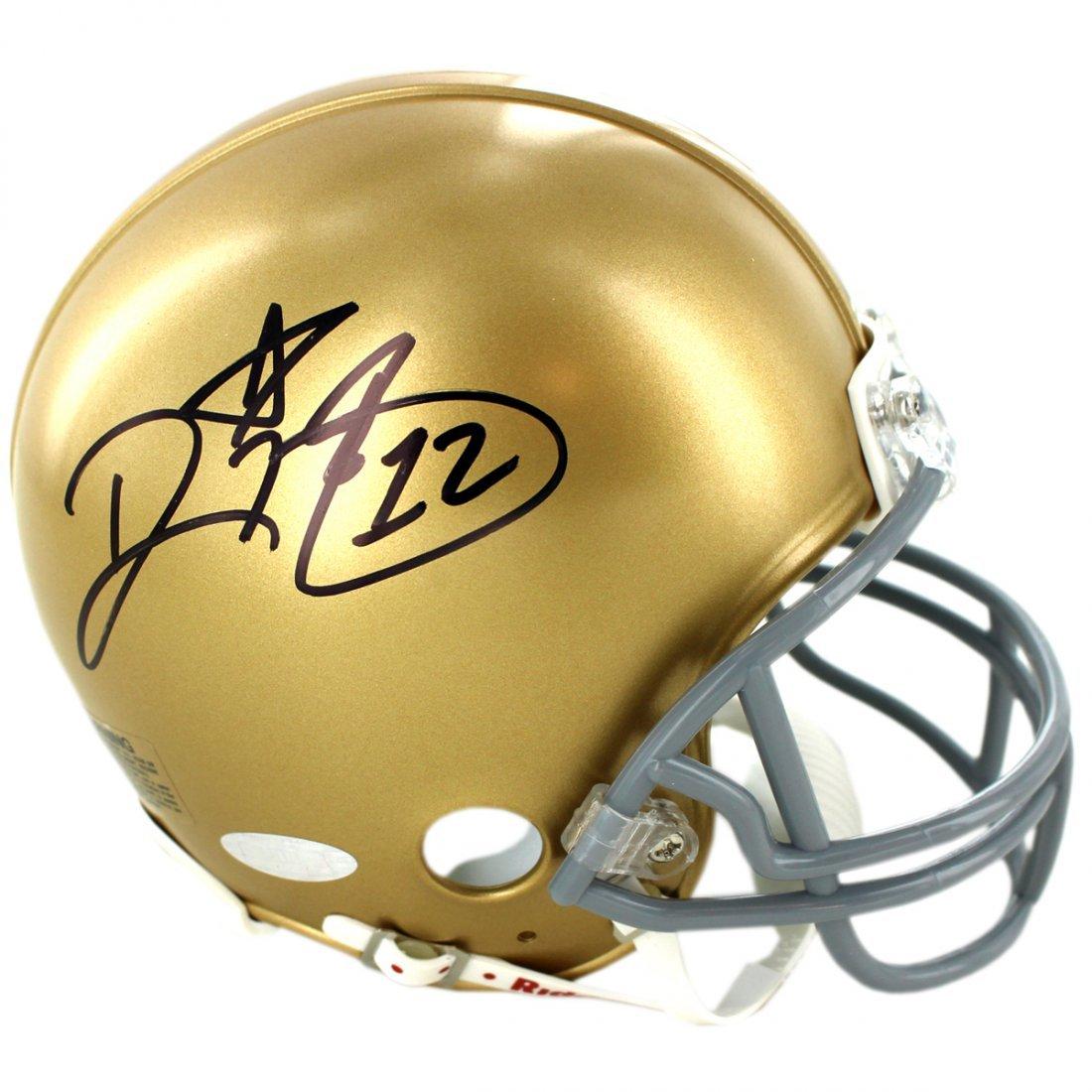 Ricky Watters Signed Notre Dame Mini Helmet