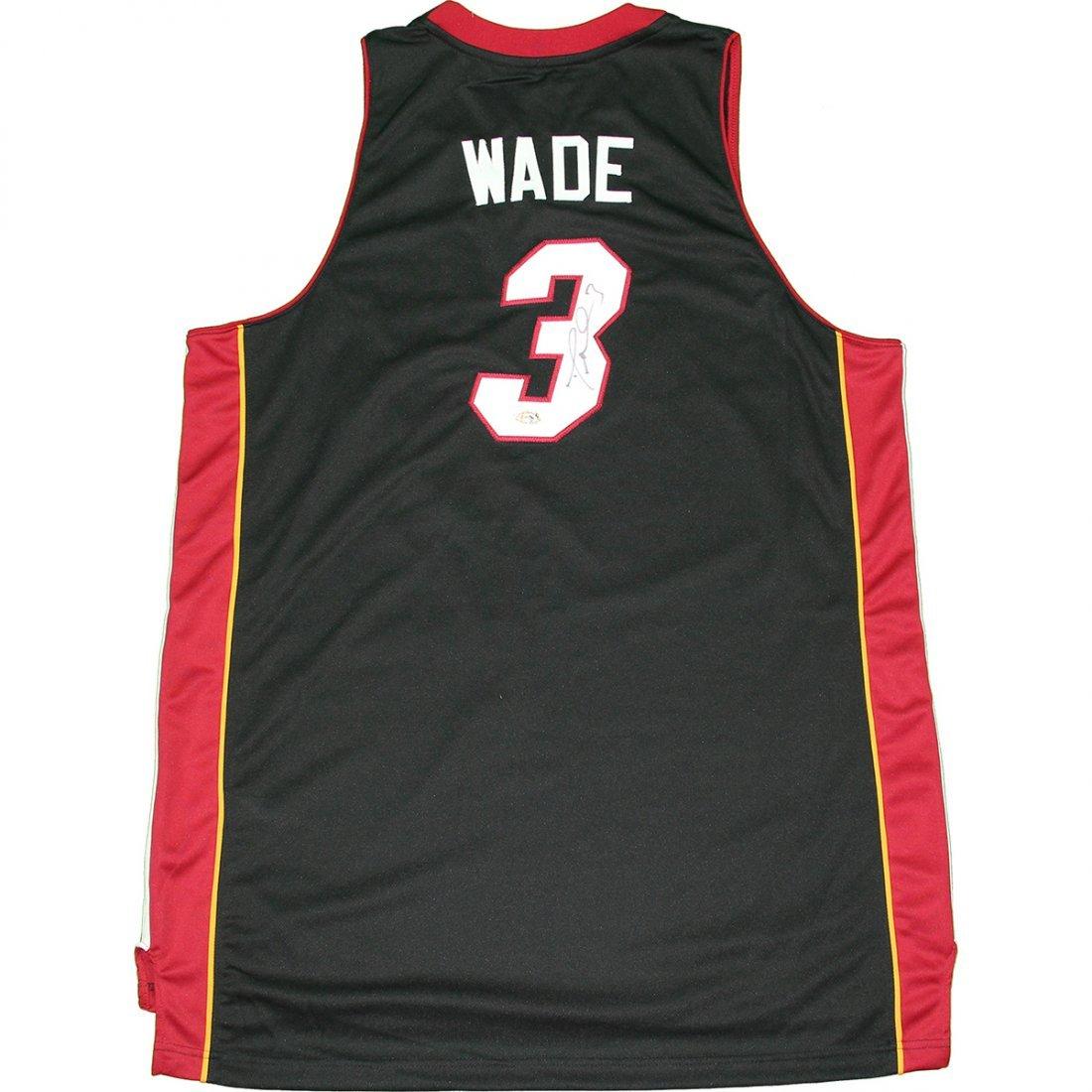 Dwayne Wade Signed Miami Heat Black Adidas Swingman Jer