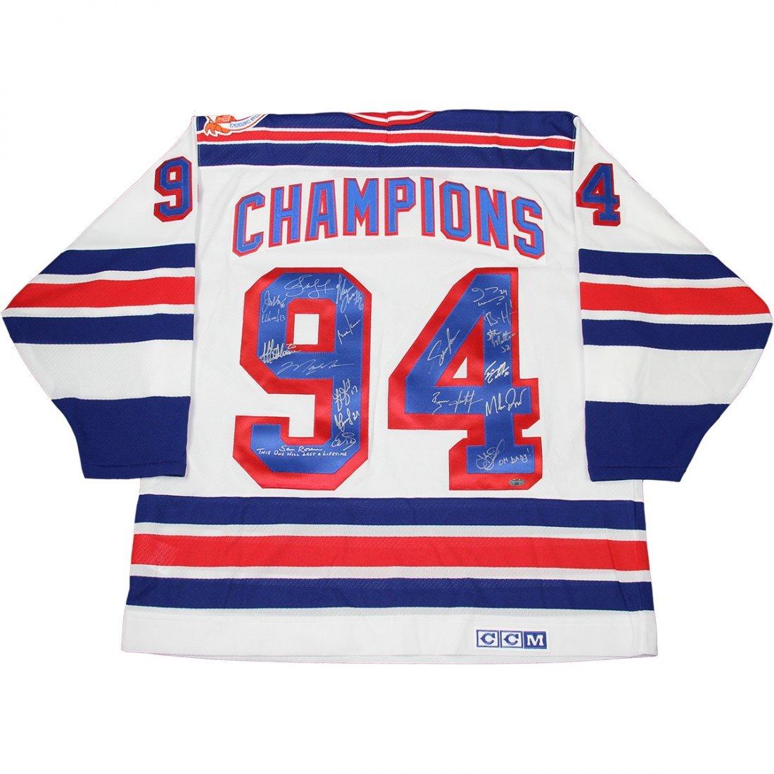 1994 Rangers Team Signed White Rangers '94 Champions' J