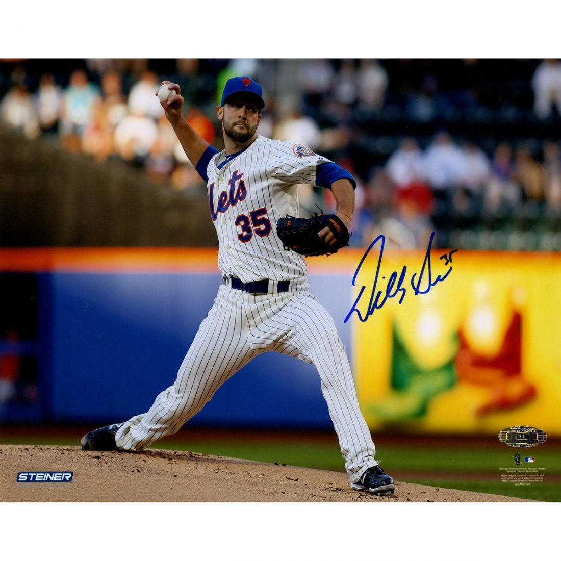 Dillon Gee New York Mets Signed Pitching  8x10 Photo