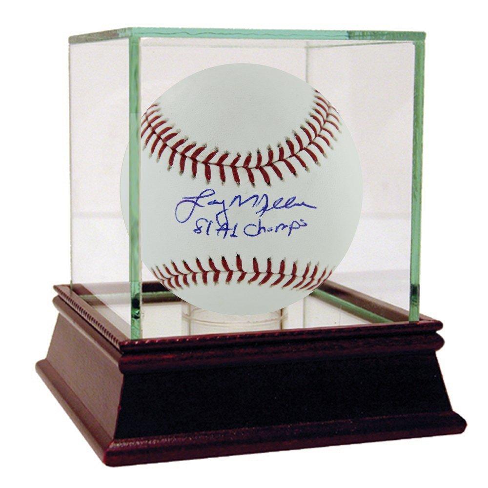 Larry Milbourne Autograph MLB Baseball w/ 81 AL Champs