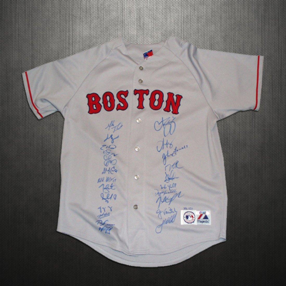 2007 Boston Red Sox Team Curt Schilling Replica Gray Je