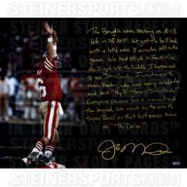 Joe Montana Signed The Drive 16x20 Story Photo