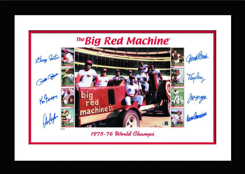 Big Red Machine Tractor Signed and Framed