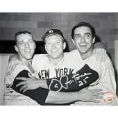 Joe Pepitone Hugging Mantle/Maris Horizontal B/W 8x10 P