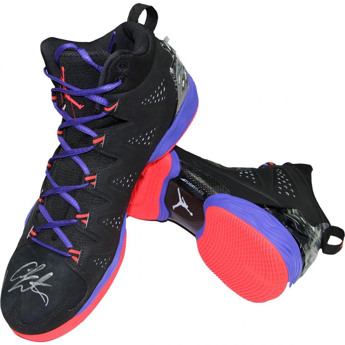 Carmelo Anthony Signed Right Shoe JORDAN MELO M10 Black