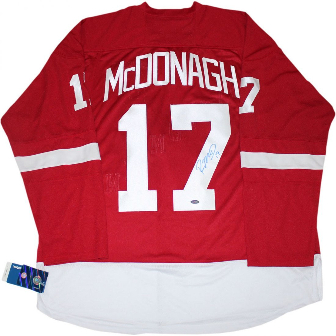 Ryan McDonagh Signed Red Wisconsin Hockey Jersey