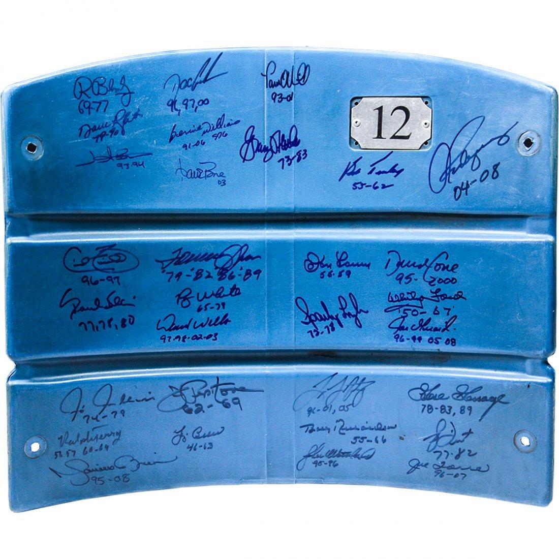 Multi-Signed Authentic Seatback from The Original Yanke