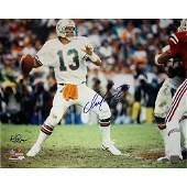 Dan Marino Miami Dolphins Home Jersey Dropping Back to