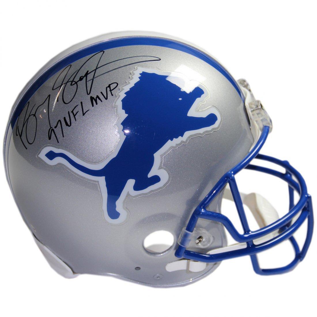 Barry Sanders Signed Detroit Lions Authentic Helmet w/