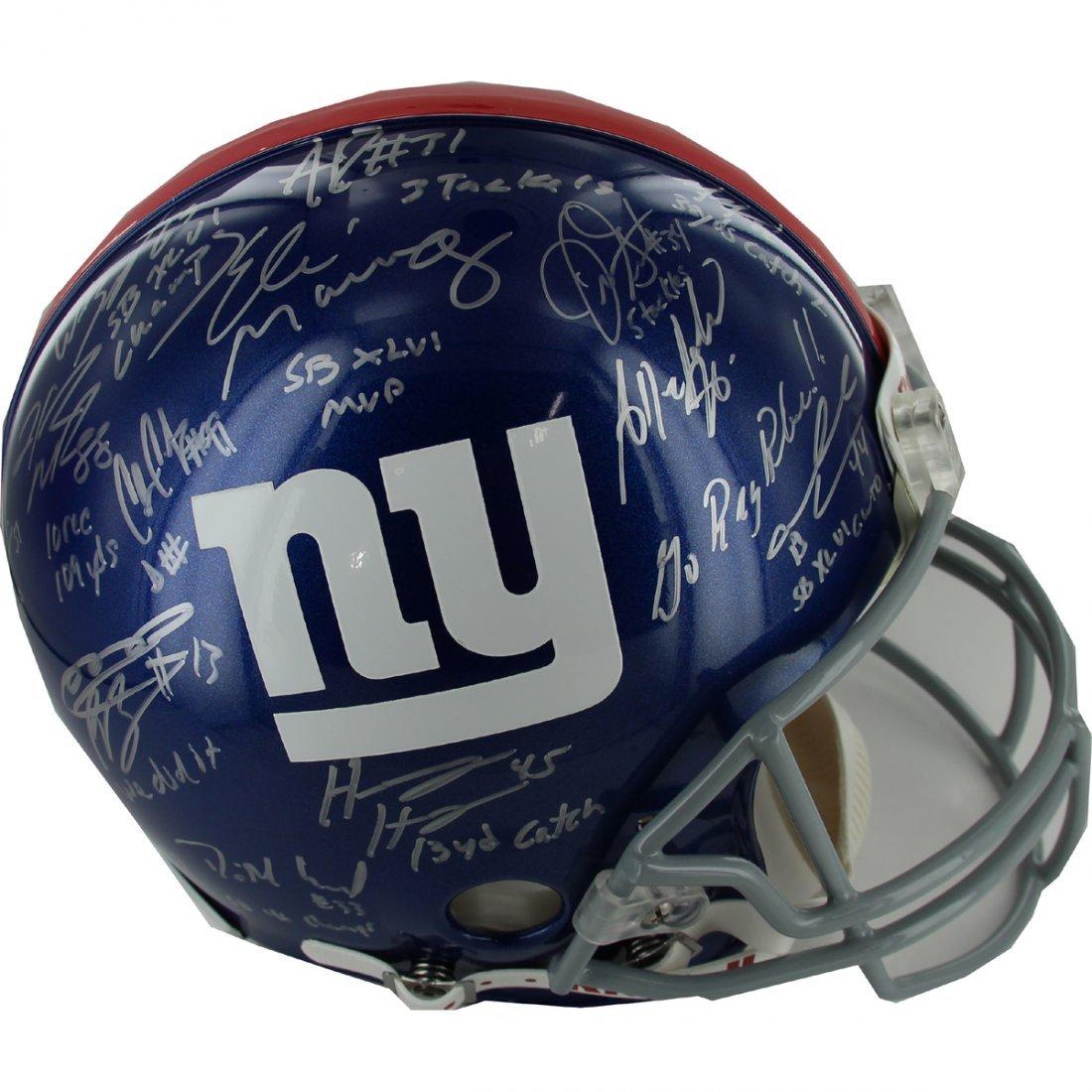 2011 New York Giants Team Signed Authentic Helmet w/ In