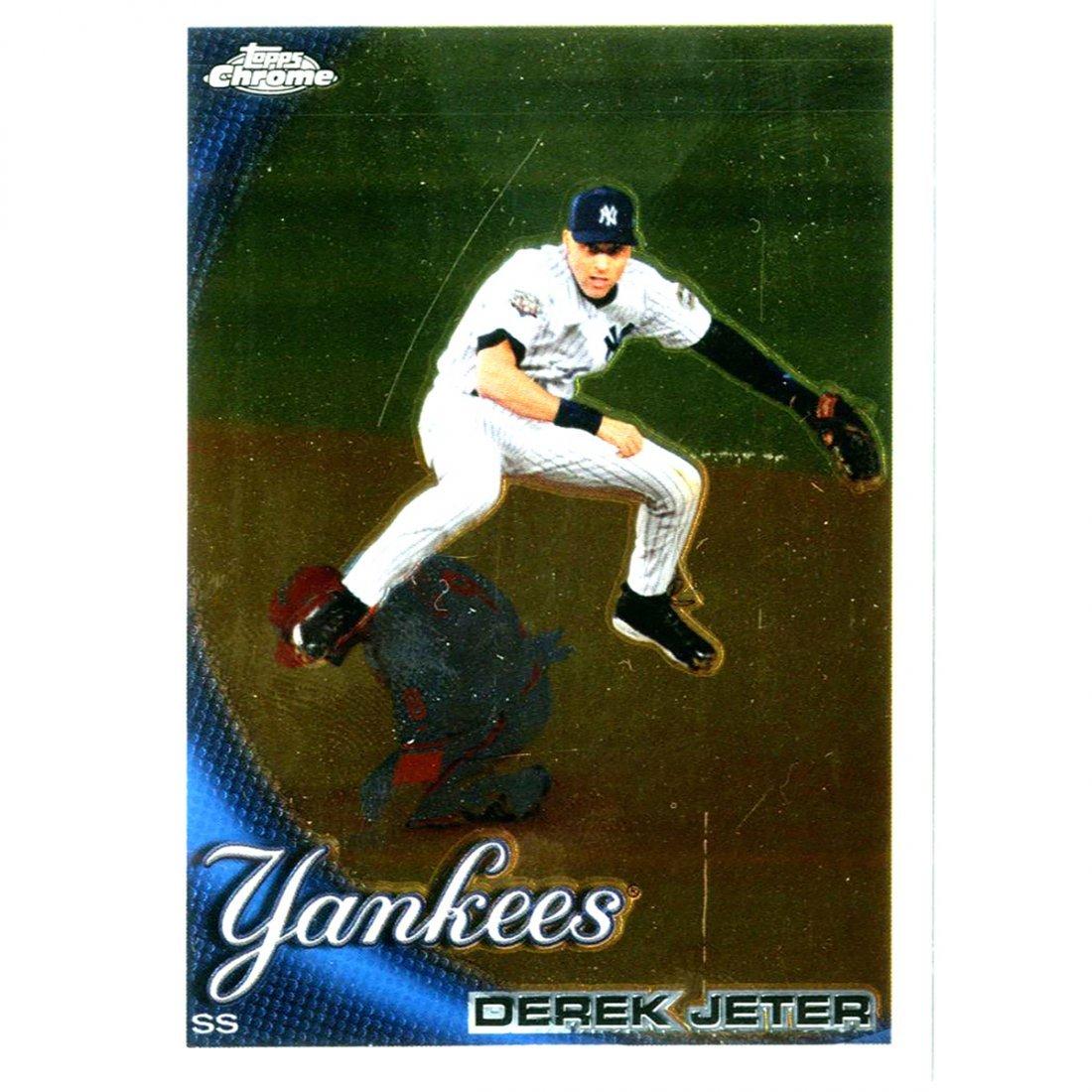 Derek Jeter 2010 Topps Chrome Card