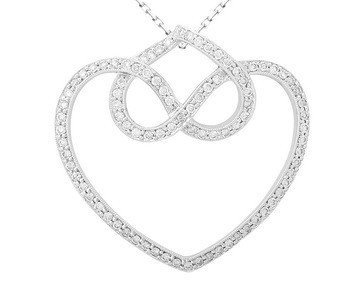 18KT  WHITE GOLD WOMEN'S 0.81 DIAMOND PENDANT.  Feature
