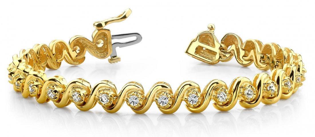 14KT Gold 0.75 ct Diamond Bracelet Featuring 23.5 Grams