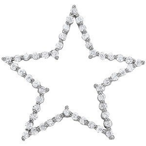 14K Gold 0.225 ctw Round Diamond Pendant.  Brand New!