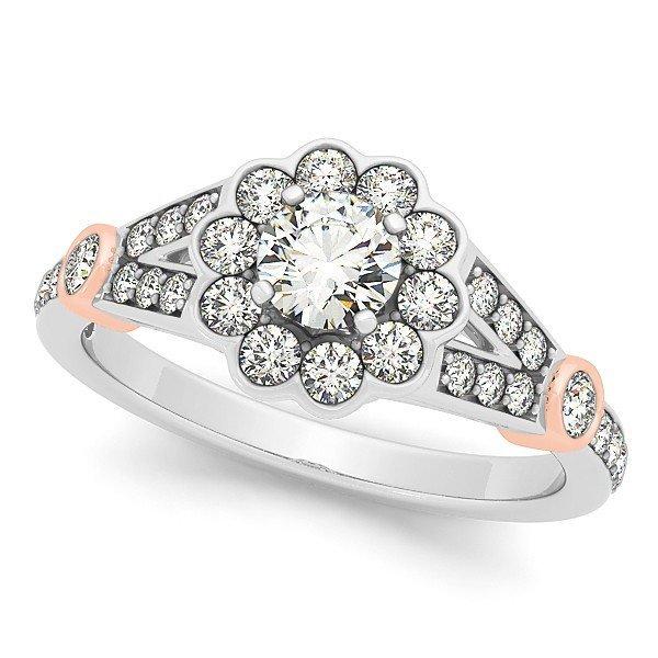 14K Gold 1.035 ctw Round Diamond Ring.  Brand New!   Fe