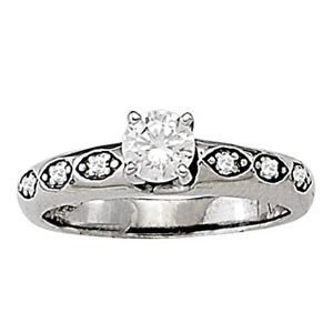 14K Gold 1.84 ctw Round Diamond Ring.  Brand New!   Fea