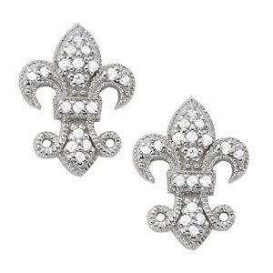 14K Gold 0.13 ctw Round Diamond Earrings.  Brand New!