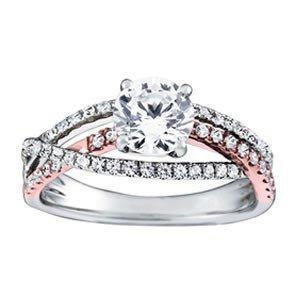 14K Gold 2.53 ctw Round Diamond Ring.  Brand New!   Fea