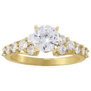 14K Gold 3.72 ctw Round Diamond Ring.  Brand New!   Fea