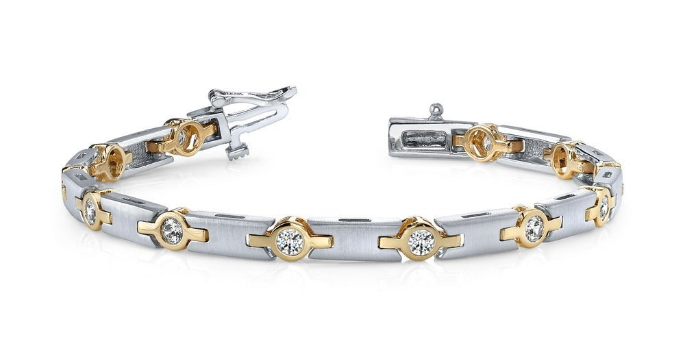 14KT Gold 2.5 ct Diamond Bracelet Featuring 21 Grams of