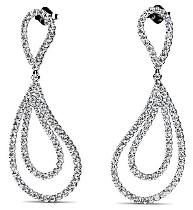 14KT Gold 0.75 ct Diamond Earrings   Featuring 3.3 Gram