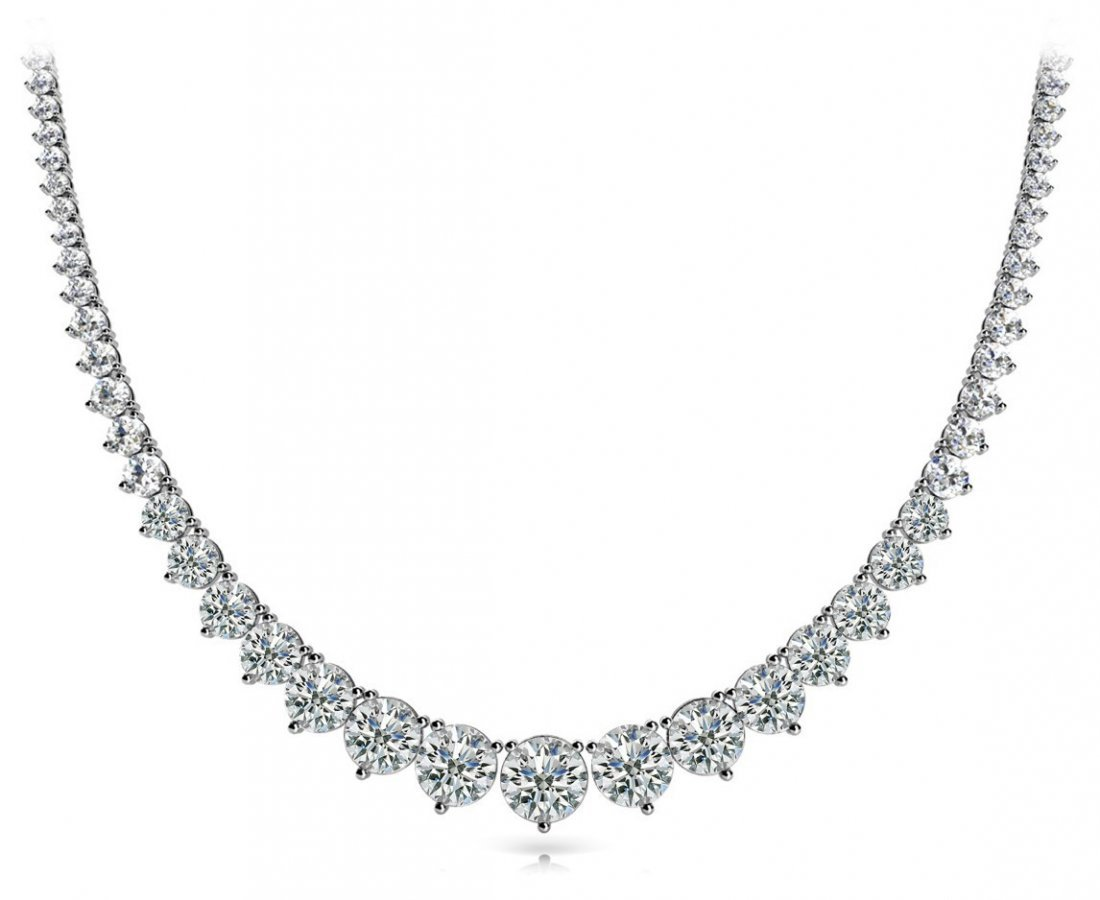 14KT Gold 15 ct Diamond Neckless Featuring 20.2 Grams o