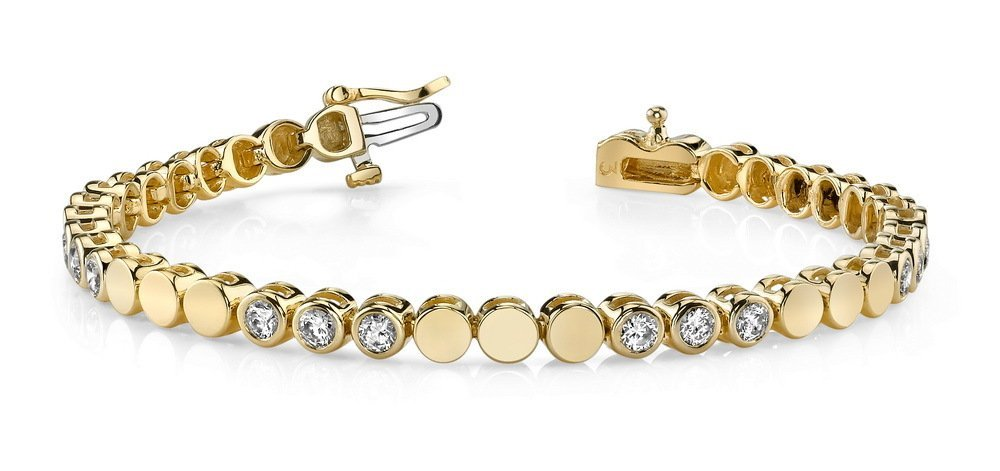 14KT Gold 3.75 ct Diamond Bracelet Featuring 22.7 Grams