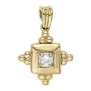 14K Gold 0.15 ctw Round Diamond Ring.  Brand New!