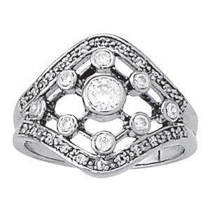 14K Gold 0.655 ctw Round Diamond Ring.  Brand New!   Fe