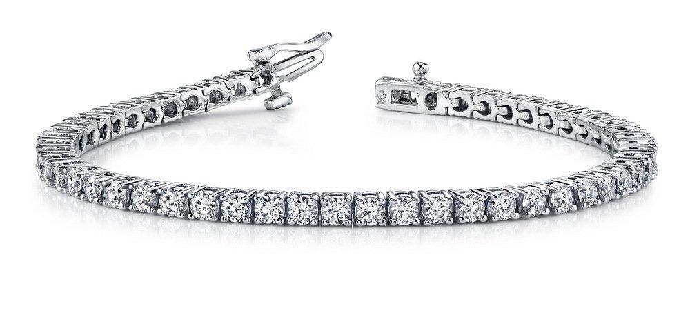 14KT Gold 2 ct Diamond Bracelet Featuring 11.1 Grams of
