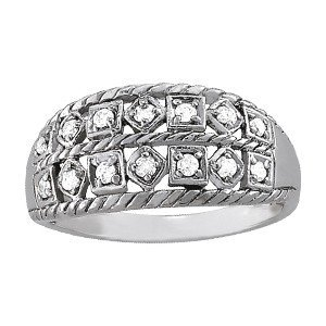 14K Gold 0.265 ctw Round Diamond Ring.  Brand New!