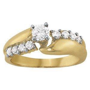 14K Gold 2.57 ctw Round Diamond Ring.  Brand New!   Fea