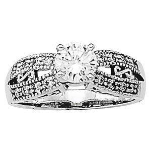 14K Gold 0.82 ctw Round Diamond Ring.  Brand New!   Fea