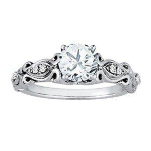 14K Gold 1.07 ctw Round Diamond Ring.  Brand New!   Fea